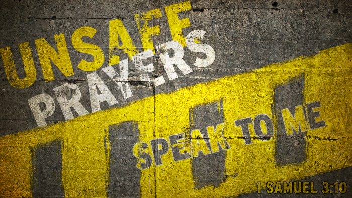 Unsafe Prayers: Speak To Me Image